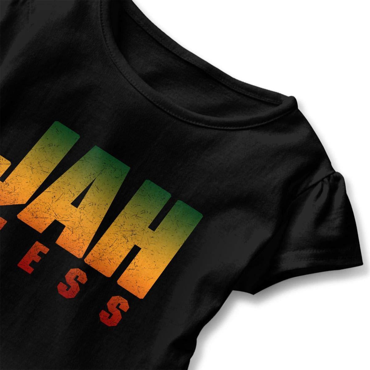 Clarissa Bertha Jah Bless Rasta Flag Reggae Roots Toddler Baby Girls Short Sleeve Ruffle T-Shirt