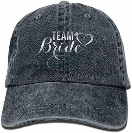 53e214e5381 Itry Team Bride Denim Hat Adjustable Male Baseball Cap