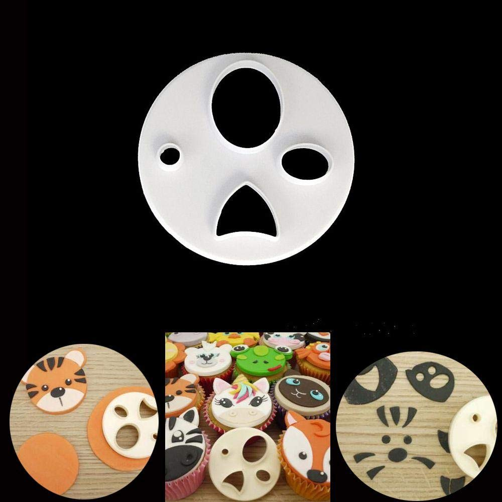 Pocktyle Embossed Fondant Sugarcraft Biscuits Mould Animal Face Cake Mold Cookies Cutter Baking Tool