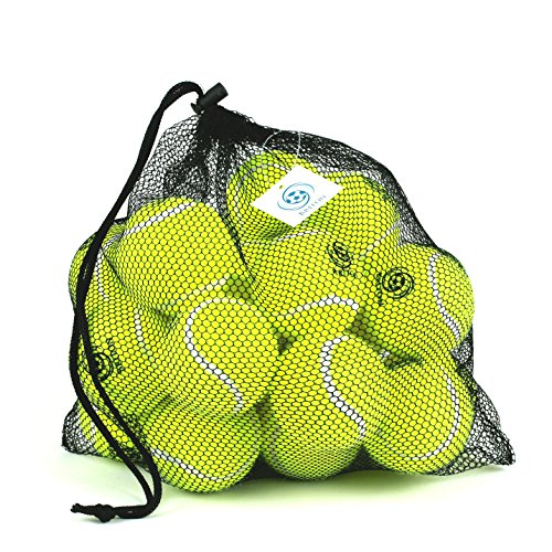 Pressureless Tennis Balls with Mesh Carrying Bag, Sturdy & Durable, Long Lasting - Great For Lessons, Practice
