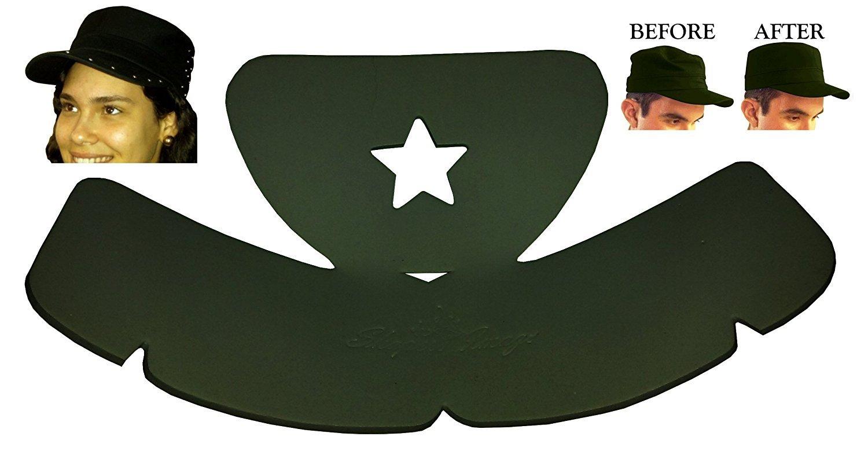 3Pk. Military Hat Crown Half Shaper| Army Cap Shaper| Liner| Hat Storage (Black)