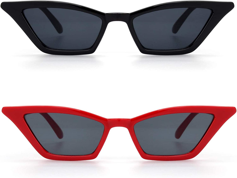 GQUEEN Occhiali da Sole a Gatto Protezione UV Occhiali da Sole Kurt Cobain,GQS8