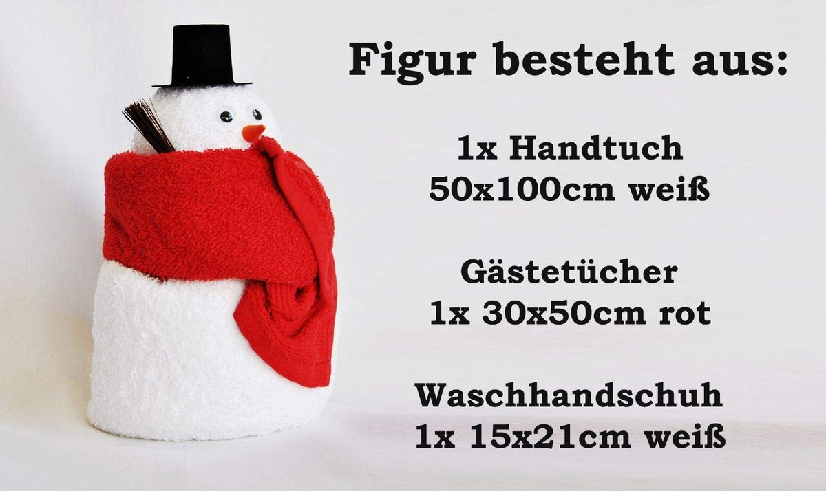 bonhomme de neige /Éponge Coffret cadeau Origami Serviette Serviette Gant de toilette Motif//Art