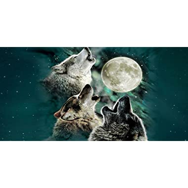 Cool Wolves Life In The Forest Wolf large size 69*137cm 100% BEACH BATH towel for adults kids soft home bathroom use bath towel set
