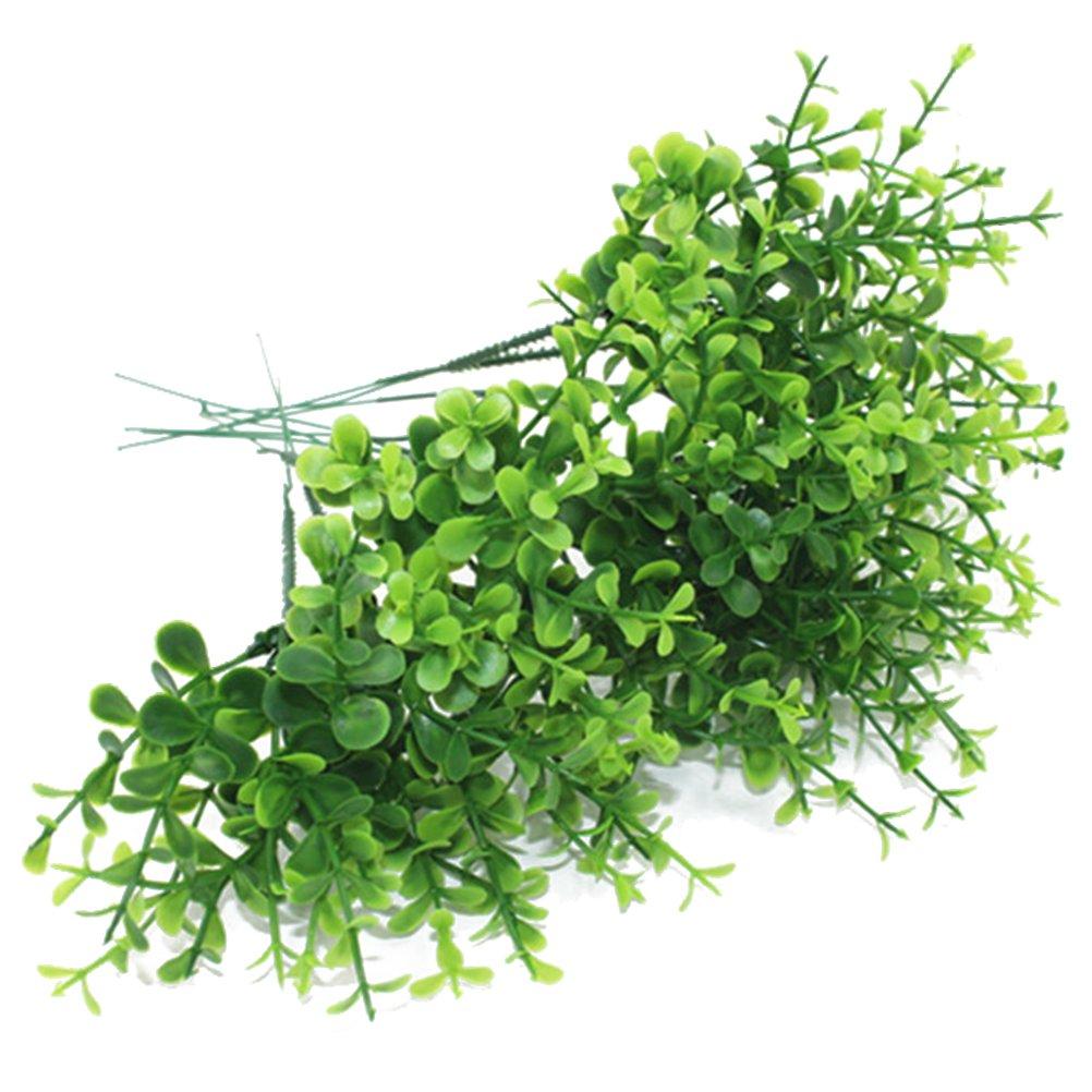 Vosarea 10 Pcs Plantes artificielles Accueil Amé nagement paysager Dé coration de Table Dé cor Simulation Eucalyptus Exté rieur Inté rieur