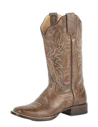 Western Boot Womens Textured Oily 9.5 B Tan 09-021-7018-1222 Ta