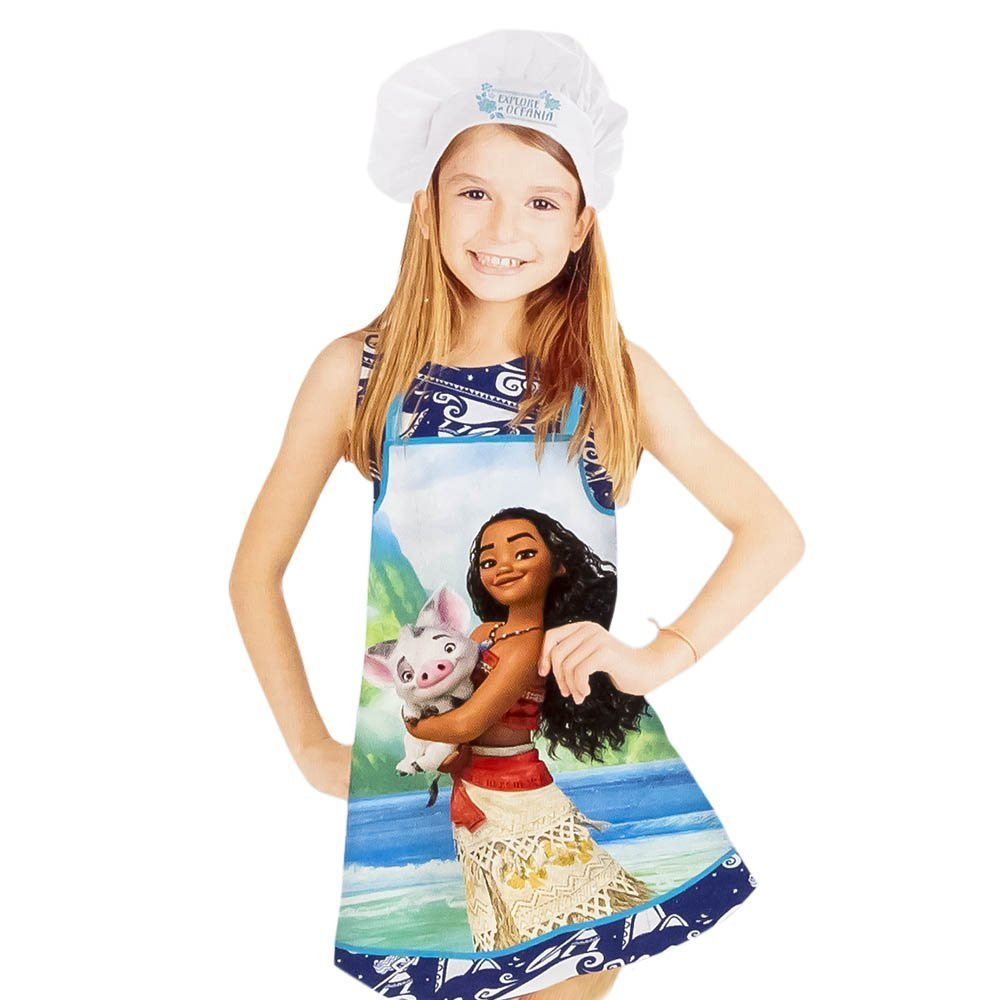 Disney Moana/Vaiana Apron and Chef's Hats Set, Officially Licensed. by Disney (Image #2)