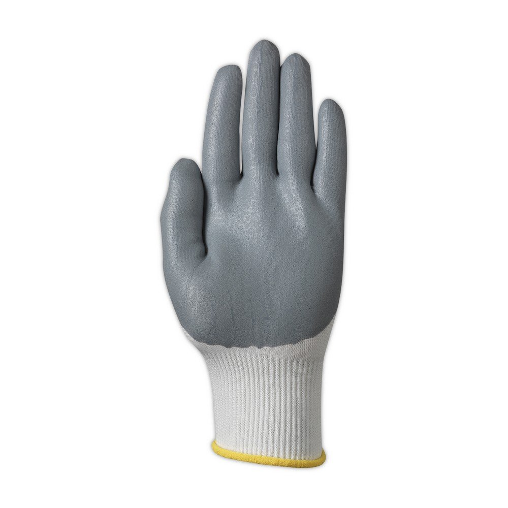 Ansell 103331 HyFlex 11-800 Foam Nitrile Palm Coated Knit Assembly Gloves 5 Wide Pack of 12 0.33 Height 9 Length Size 7 White