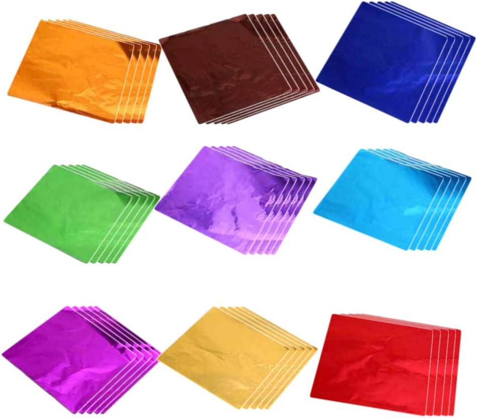 NUOBESTY 900 St/ücke Bunte Gold Blatt Imitation Blattgold Folie Papier Schlagmetall Goldpapier f/ür Schleim Kunst DIY Vergoldung Handwerk Rahmen M/öbel Dekoration