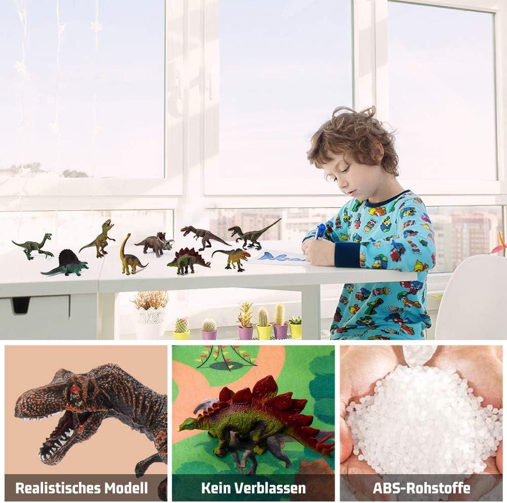HomeMall Dinosaurier Spielzeug,Dinosaurier Figuren Modell,Figur mit Aktivit/ät Spielmatten /& B/äume f/ür Kindergeburtstag Ausbildung Party Dekoration