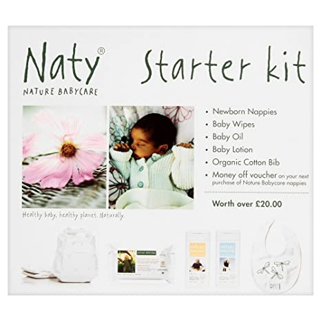 Nature Babycare Starter Kit with Newborn Size 1 (4-11 lbs/2-