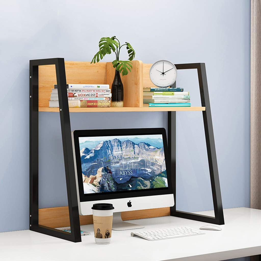 MXD Bookshelf Simple Table Storage Rack Simple Modern Desktop Single-Layer Bookcase Black