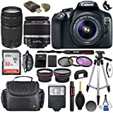 Canon EOS Rebel T6 DSLR Camera with EF-S 18-55mm f/3.5-5.6 IS II Lens + EF 75-300mm f/4-5.6 III & SanDisk Ultra 32GB Class 10 Memory Card + Accessory Bundle