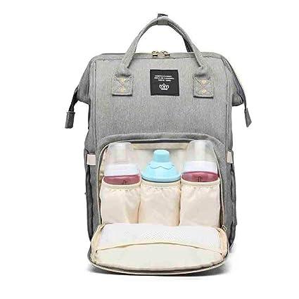 Verolino Mochila bolso de pañales y biberones de bebe gran capacidad impermeable, Mochilas de mama