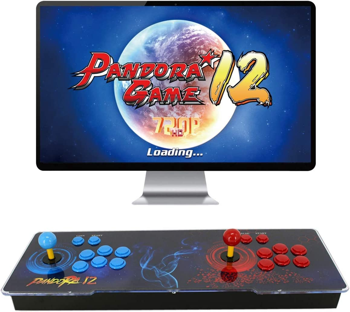 [3400 HD Games] Pandoras Box 12 Arcade Video Game Console 720P Game System  with 3400 Games Supports PC TV 2 Players
