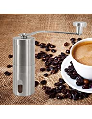 Hand Coffee Grinder Mill Portable Manual Coffee Grinder Stainless Steel Coffee Grinder Mill (Bag & Cleaning Brush Included)