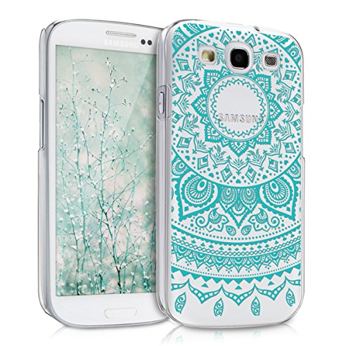 kwmobile Crystal Case for Samsung Galaxy S3 / S3 Neo - Hard Durable Transparent Protective Cover - Mint/Transparent