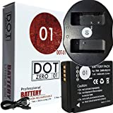DOT-01 Brand Panasonic Lumix DC-ZS200 Battery and Dual Slot USB Charger for Panasonic Lumix DC-ZS200 Mirrorless and Panasonic ZS200 Battery and Charger Bundle for Panasonic BLG10 DMW-BLG10
