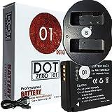 DOT-01 Brand Panasonic Lumix DC-GX9 Battery and Dual Slot USB Charger for Panasonic Lumix DC-GX9 Mirrorless and Panasonic GX9 Battery and Charger Bundle for Panasonic BLG10 DMW-BLG10