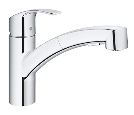 Grohe Eurosmart Pull Out Single Lever Sink Mixer Kitchen Tap With