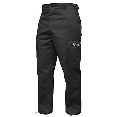Amazon.com  Brandit Men s Security Ranger Trousers Black  Clothing e7ab015a0d51