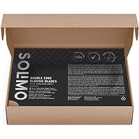 Marca Amazon - Solimo 100 Cuchillas de doble filo