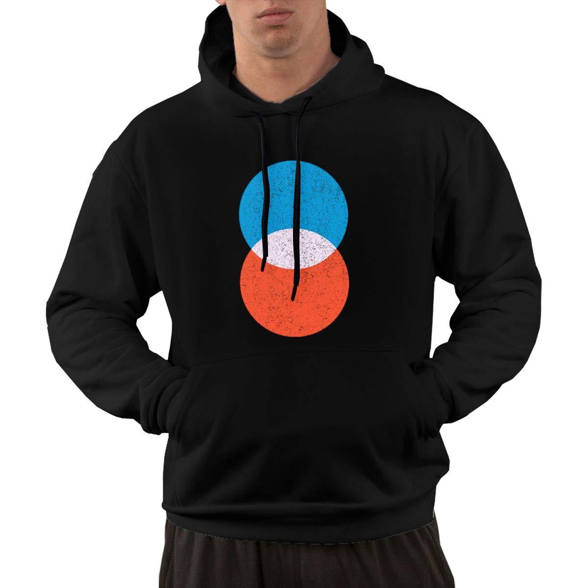 Circles Interception Hoodie Long Sleeve Sweatshirts with Plus Size