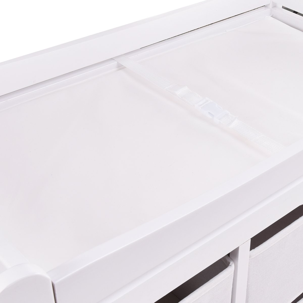 Costzon Baby Changing Table Infant Diaper Nursery Station w/6 Basket Storage Drawers (White) by Costzon (Image #7)