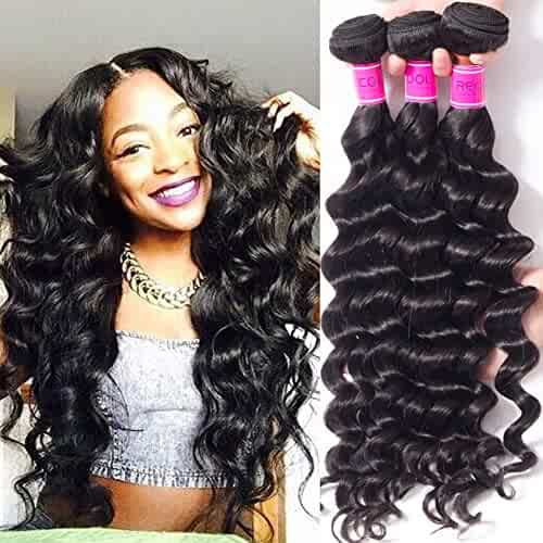 Sensible Recool Hair 3 Bundles With 5x5 Lace Closure Deep Wave Natural Color Remy Human Hair Brazilian Hair Weave Bundles With Closure 3/4 Bundles With Closure