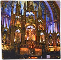 3dRose LLC 8 x 8 x 0.25 Inches Mouse Pad, Quebec, Montreal, Notre Dame Basilica, Church-Cn10 Cmi0070 - Cindy Miller Hopkins (mp_71117_1)