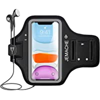 iPhone 11, XR Armband, JEMACHE Water Resistant Gym Exercises Workouts Running Arm Band Case for iPhone 11, iPhone XR with Key Holder (Black)