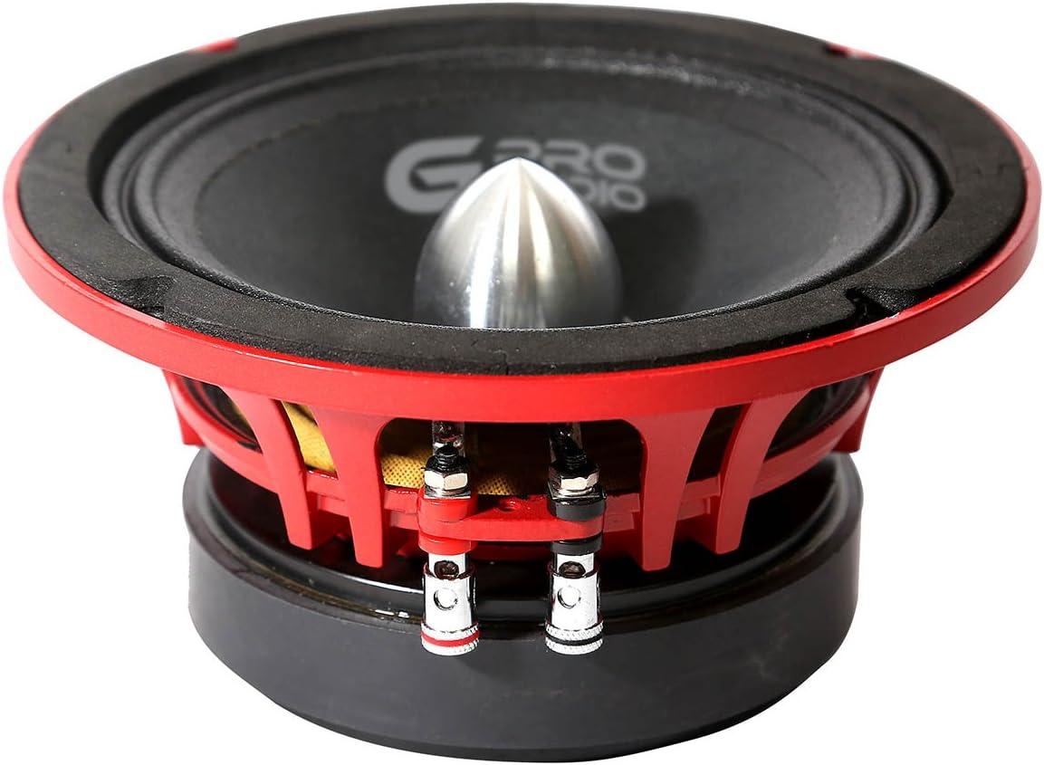 Genius GPRO-M038 8 400 Watts-Max Super Slim Midrange Car Audio Speaker 4-Ohms