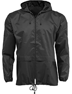 01ab8142e13 HuntaDeal Men Women Unisex Rain Mac Raincoat Showerproof Cagoule Kagool  Kagoul KAG Festival Parka Jacket Hooded