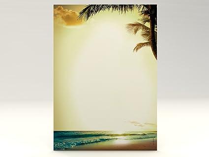 Vacaciones de vacaciones Diseño Papel Romantic Sunset, 50 hojas de ...