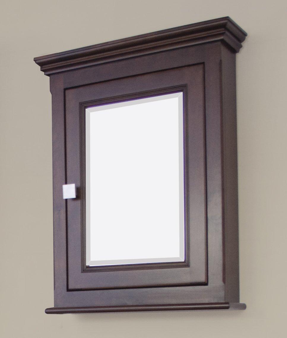 36-in. W x 31.5-in. H Modern Plywood-Veneer Wood Mirror In Walnut by American Imaginations (Image #3)
