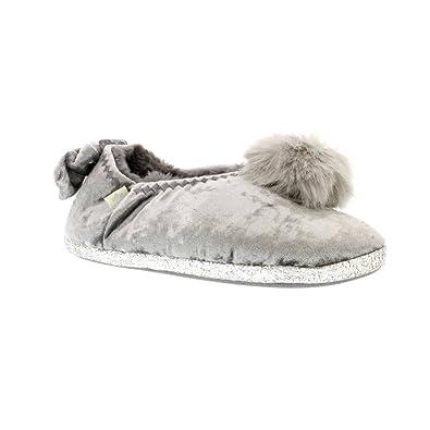 Pretty You London - Zapatillas de estar por casa de Material Sintético para mujer plateado plata: Amazon.es: Zapatos y complementos
