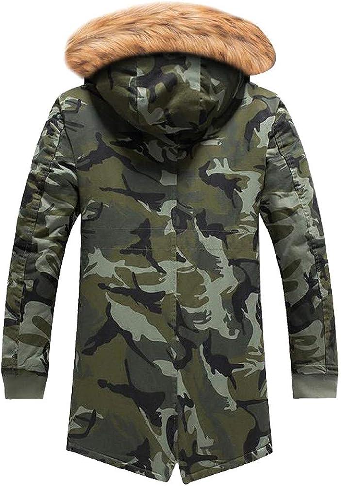 Lucoo Mens Cotton Outwear Men Boys Casual Warm Stand Collar Slim Winter Zip Coat Outwear Jacket Top Blouse