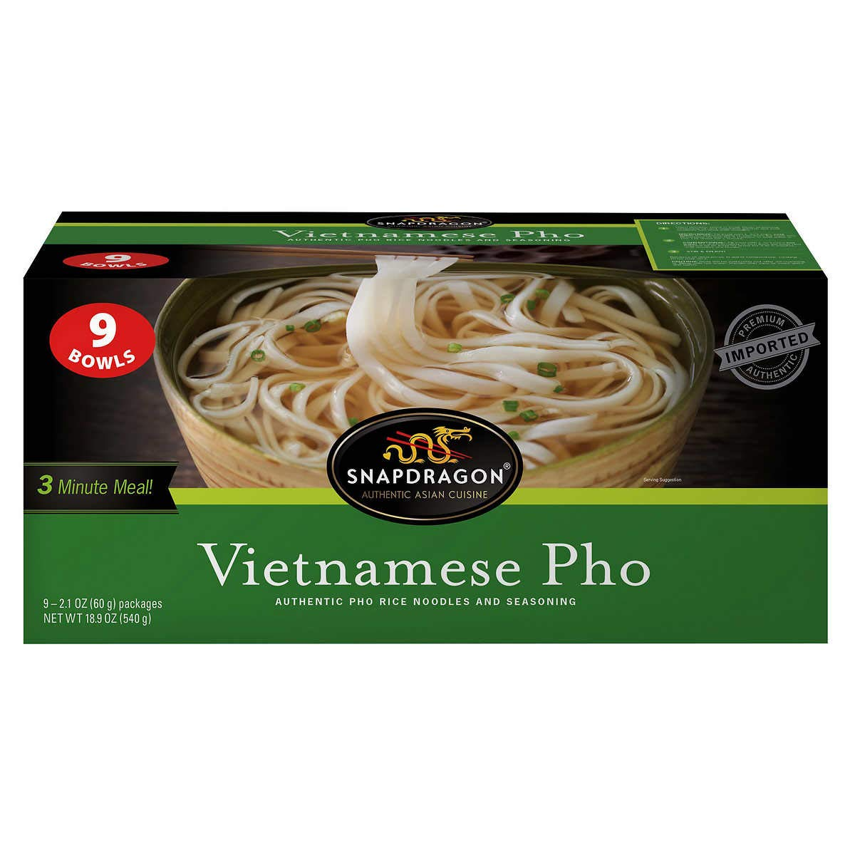 Snapdragon Vietnamese Pho Bowls, 2.1 Oz, 9Count,, 18.9 Oz ()