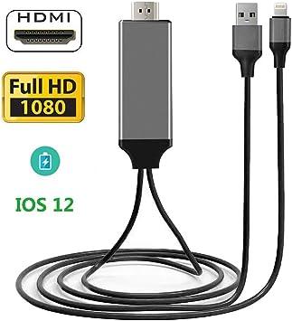 Adaptador de Cable HDMI Hulier Compatible con iPhone, Cable HDMI ...