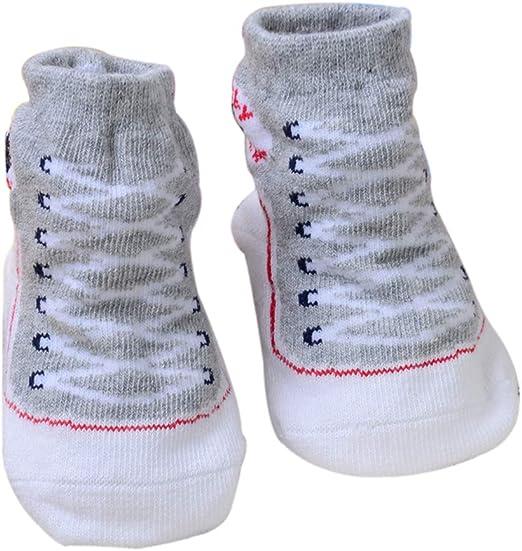 Scrox 1 Par Calcetines de beb/é Reci/én Nacido 0-6 Zapatos Bebe ni/ña Lindo 3D Espesar Socks Algod/ón Mantener Caliente Oto/ño e Invierno Calcetines Antideslizantes de Piso
