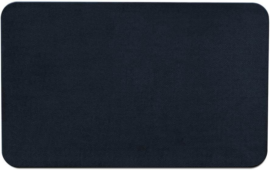 House, Home and More Skid-Resistant Carpet Indoor Area Rug Floor Mat - Navy Blue - 3 Feet X 5 Feet