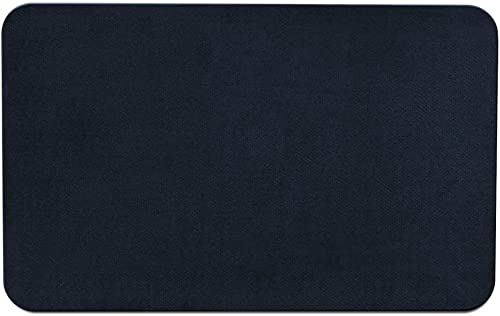 House, Home and More Skid-Resistant Carpet Indoor Area Rug Floor Mat – Navy Blue – 2 Feet X 3 Feet