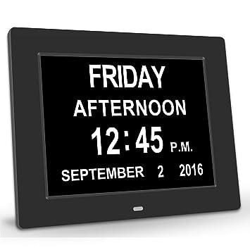 chitronicmemory pérdida Digital Calendario DíA Extra grande - Reloj con caracteres día y mes - ideal para personas mayores: Amazon.es: Electrónica