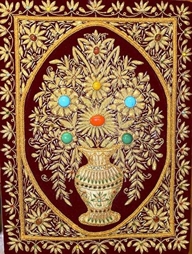 Lightahead Handmade Zardozi Jewel Stone Kashmir Gold