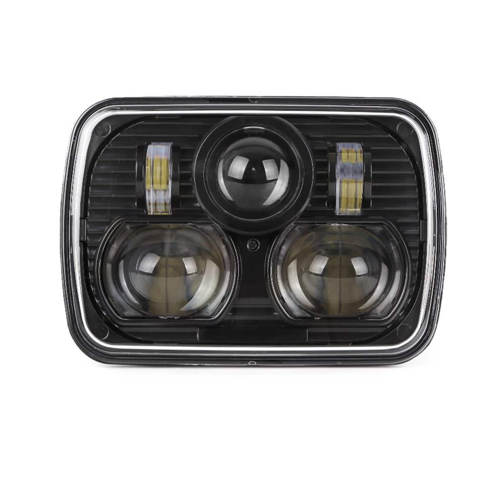 "Black 5"" X 7"" LED Headlight Replacement for Jeep Cherokee XJ Trucks"