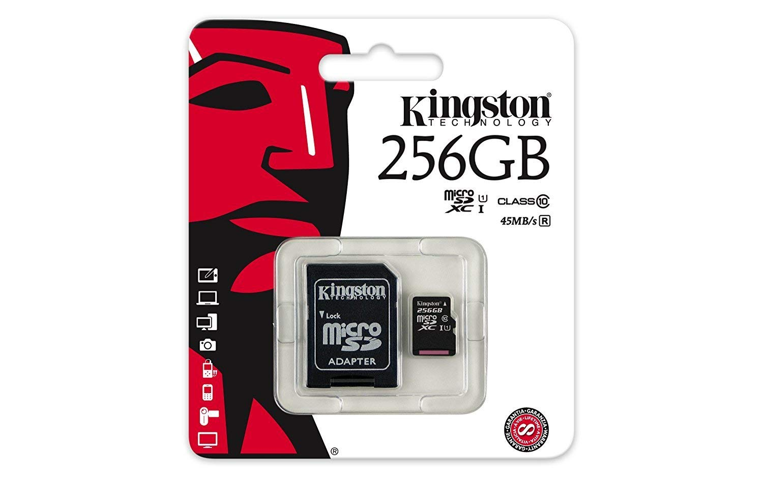 Professional Kingston 256GB Sony Xperia XA2 Ultra MicroSDXC Card with Custom formatting and Standard SD Adapter! (Class 10, UHS-I)