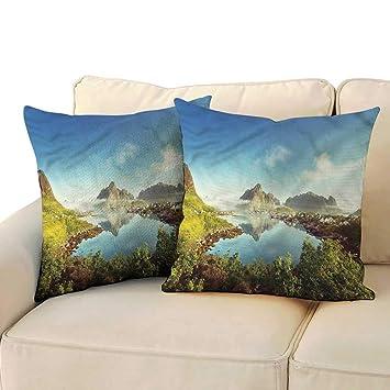 Amazon.com: Funda de cojín de arcilla para cama, diseño de ...