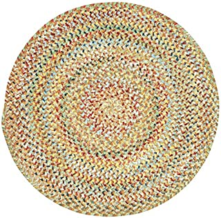 "product image for Capel Ocracoke Amber 5' 6"" Round Braided Rug"