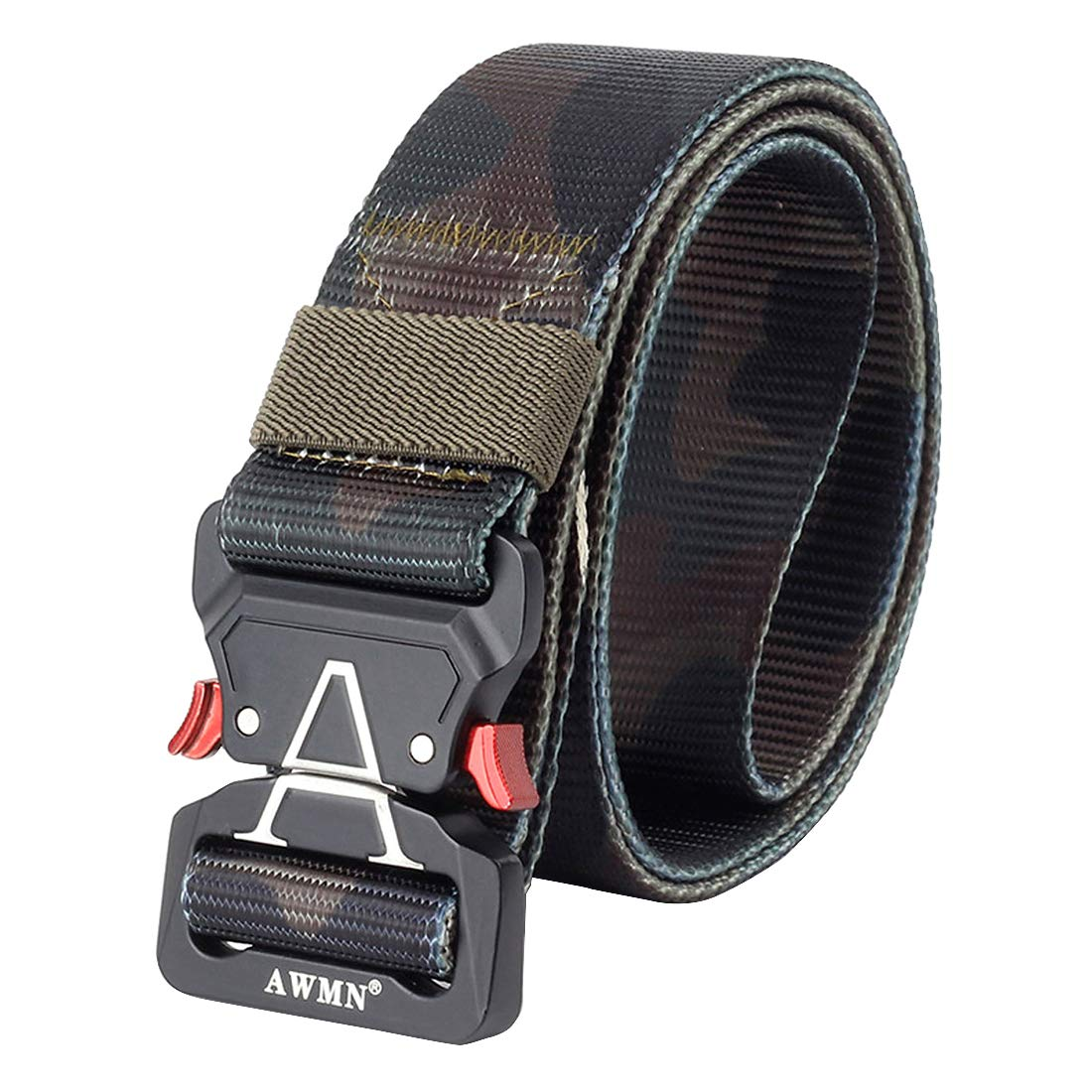 YIANO 1.5 Mens Tactical Nylon Webbing Belt with New Quick Release Buckle Classic Camo