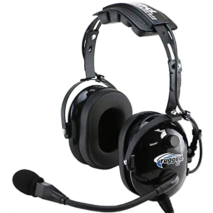 0e0c02fdde4 Amazon.com: Rugged Air RA200 General Aviation Pilot Headset with Noise  Reduction, GA Dual Plugs & MP3 Music Input: Electronics